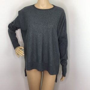 Eileen Fisher Gray Slouchy Blouse